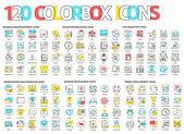 120 farbige Box-Symbole