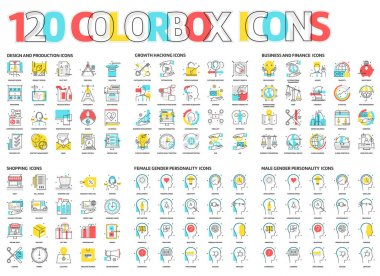 120 Color box icons
