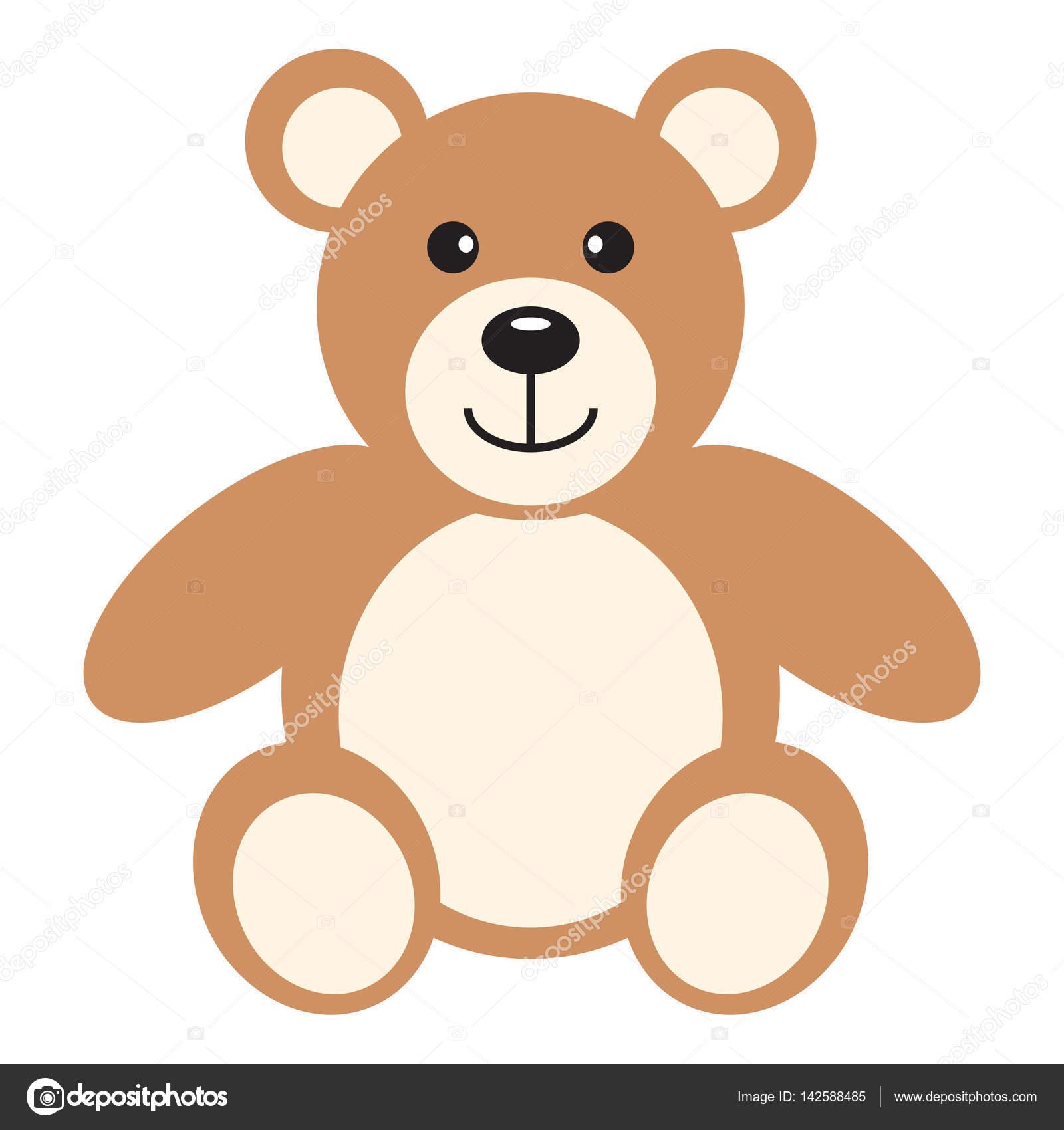 flat icon teddy bear stock vector oliveradesign 142588485
