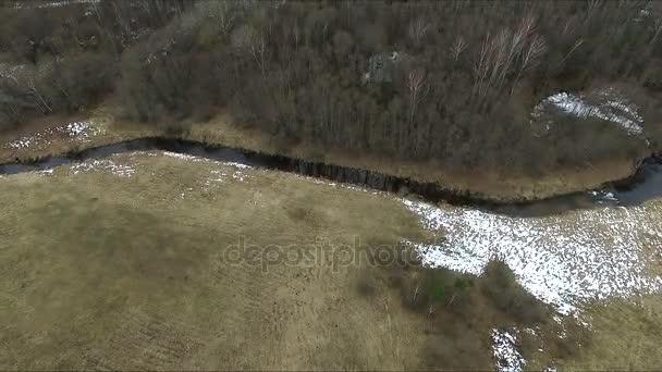 Flight Over Land Near River