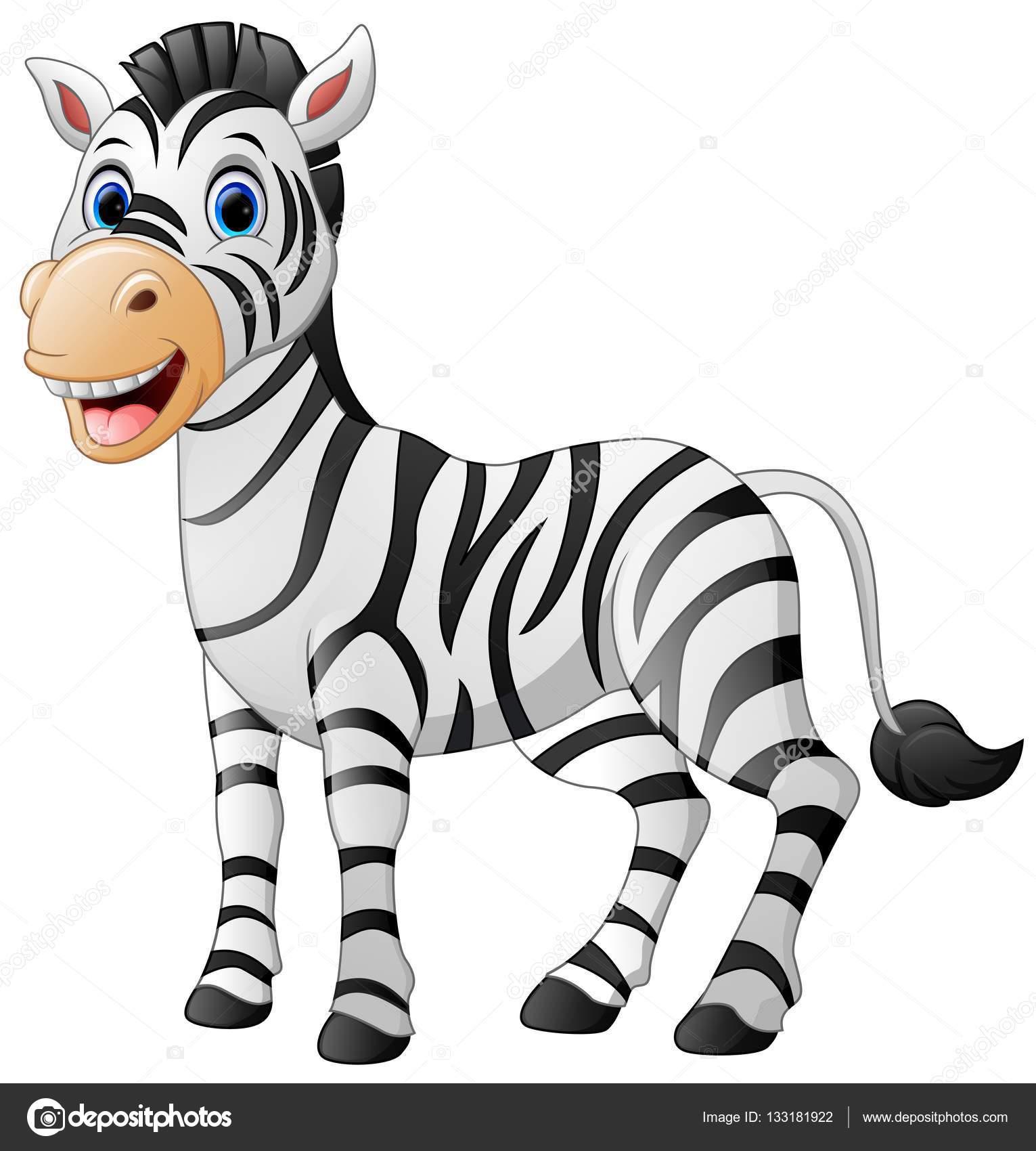 Fumetto sveglio della zebra — vettoriali stock dualoro