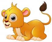 Cartoon šťastný Lev stanovit