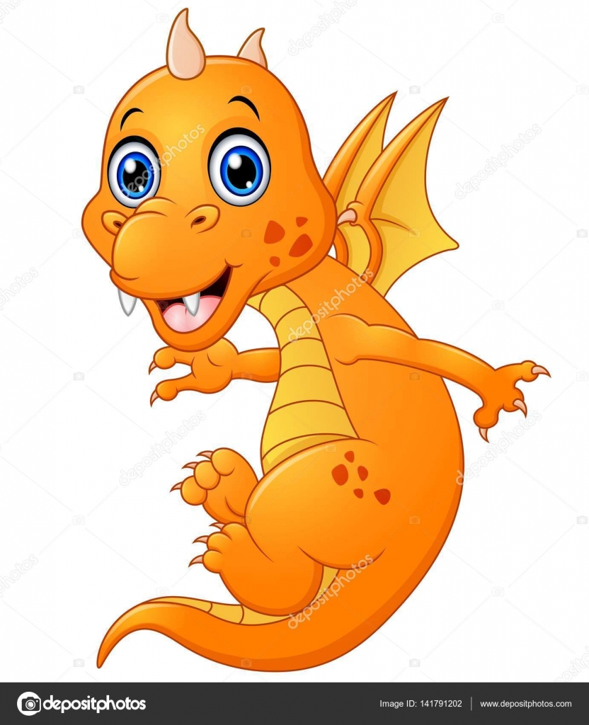 Drago bambino cartoon — vettoriali stock dualoro