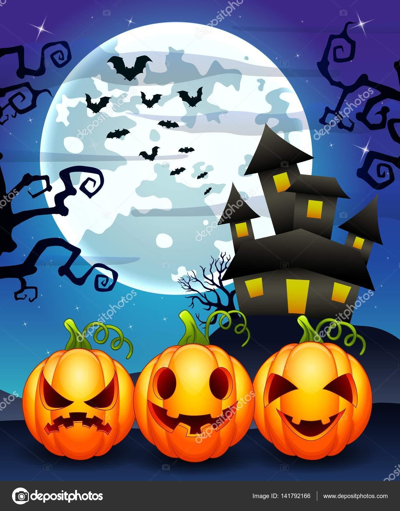 Zucche Di Halloween Cartoni Animati.Priorita Bassa Di Halloween Con Il Personaggio Dei Cartoni Animati