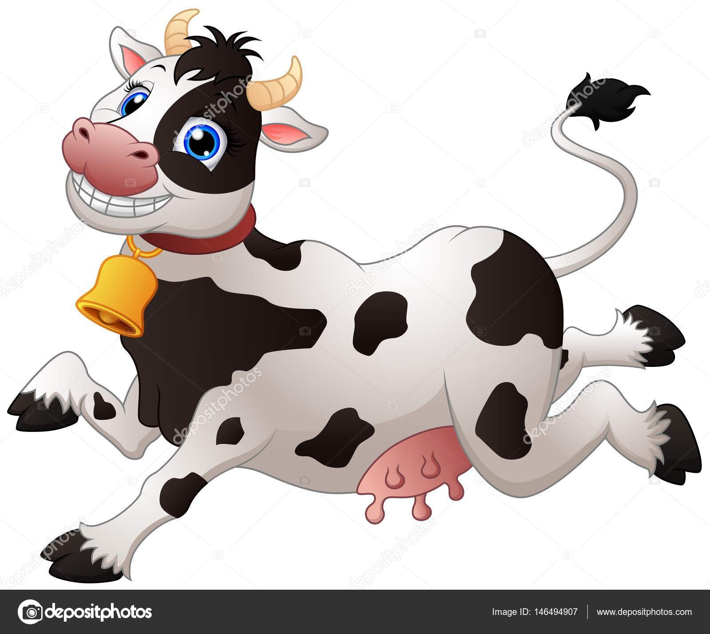 Figuras De Vacas Animadas Vaca Feliz De Dibujos Animados Vector