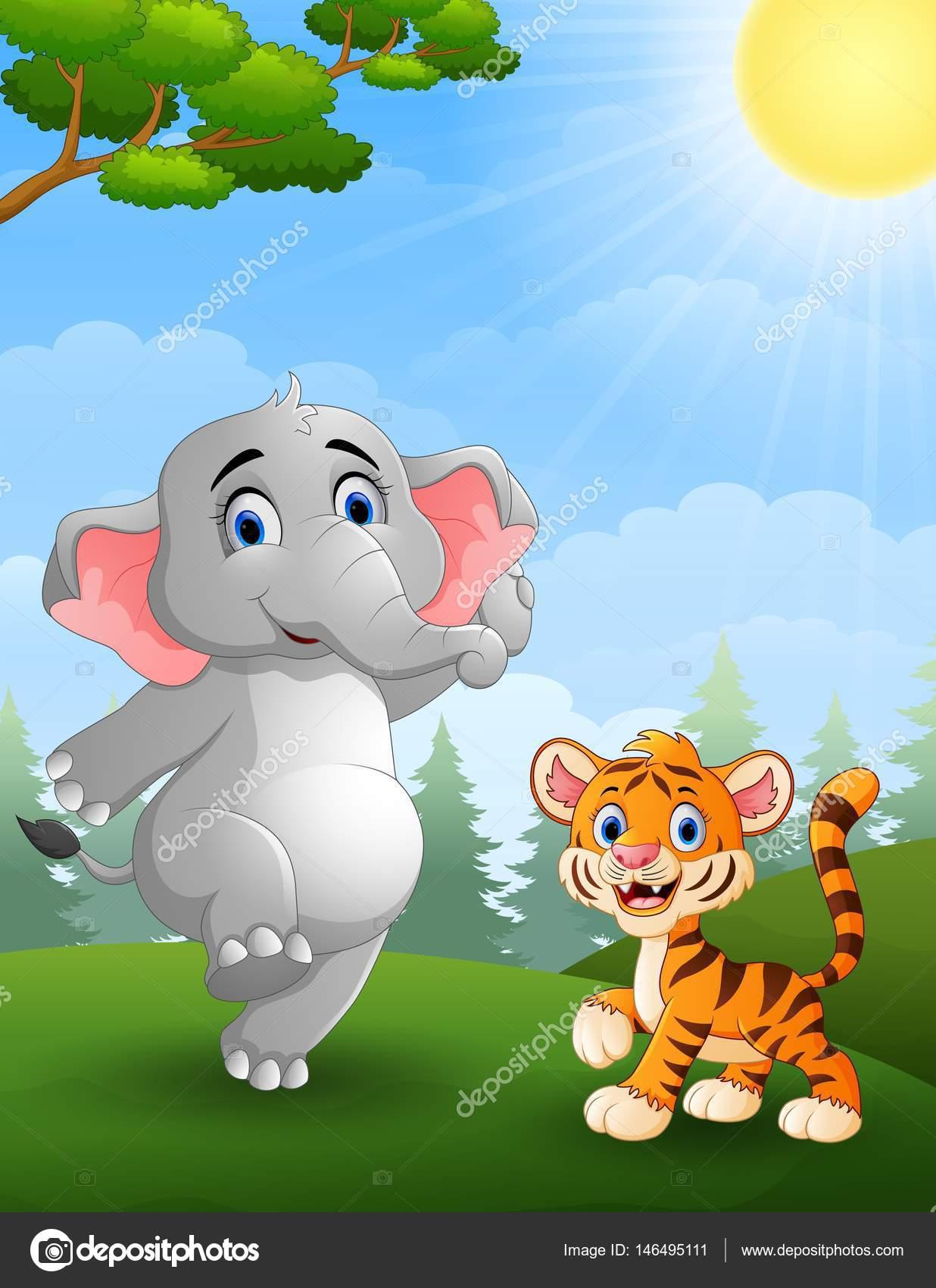 Elefante serie animada   Dibujos animados de elefante y el ...