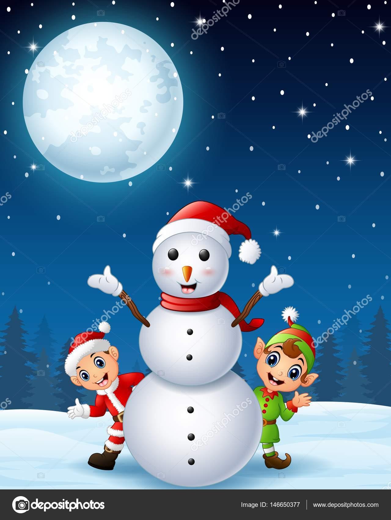 Navidad santa claus para ni os con dibujos animados elf y for Cosas artesanales para navidad