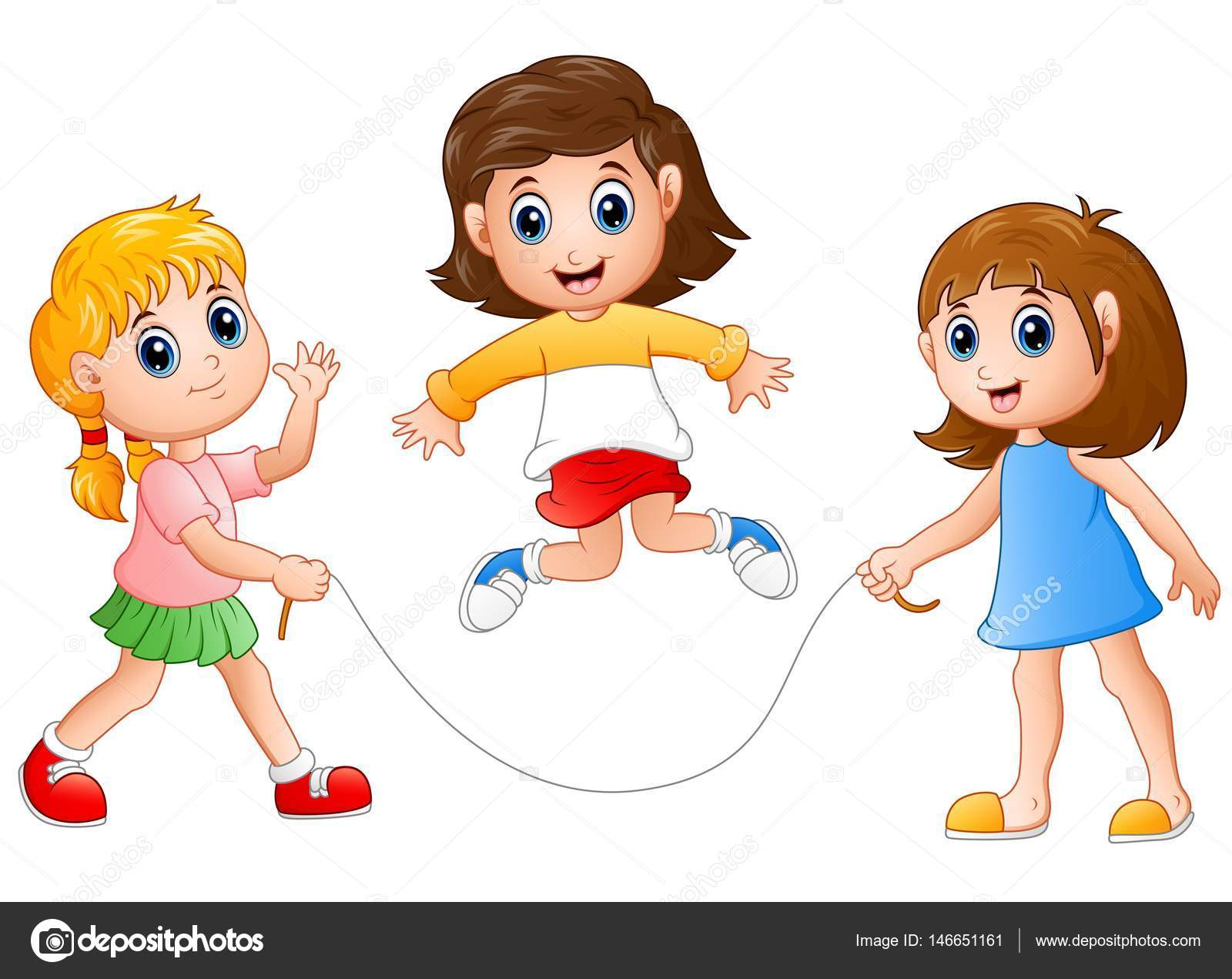 Imágenes Niñas Jugando Tres Niñas Jugando Saltar La Cuerda