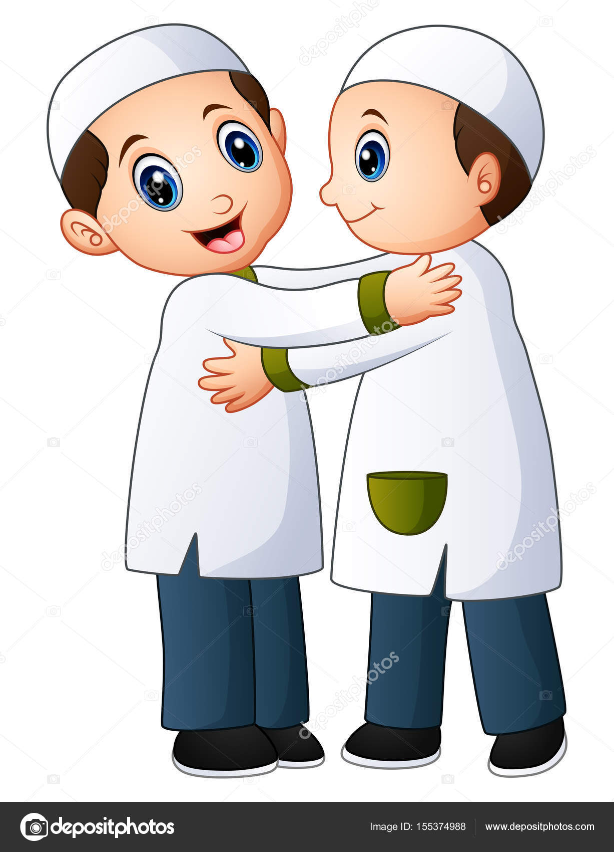 muslim kid couple embrace for each other stock vector c dualoro 155374988 https depositphotos com 155374988 stock illustration muslim kid couple embrace for html