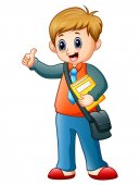 Dibujos animados pulgares arriba chico
