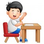 niño de dibujos animados a dar pulgares arriba