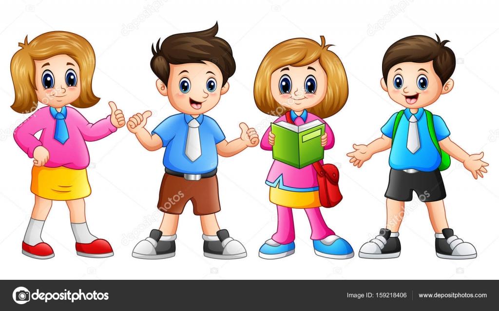 Mutlu çocuk Okula Gidiyor Stok Vektör Dualoro 159218406