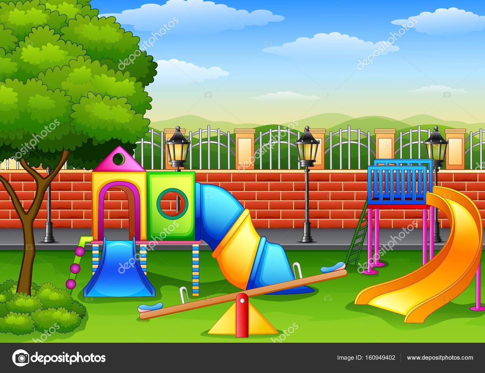 Parque Infantil En Caricatura