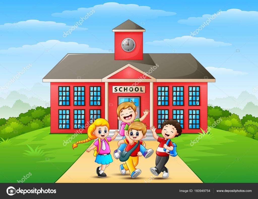 Imagenes De Edificios En Caricatura: Imágenes: Caricatura De Escuela