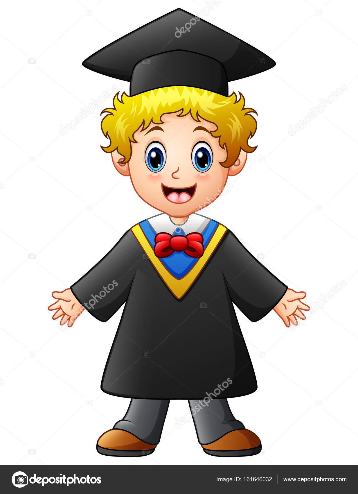 Dibujos Niños Graduacion Dibujos Animados De Niño Feliz