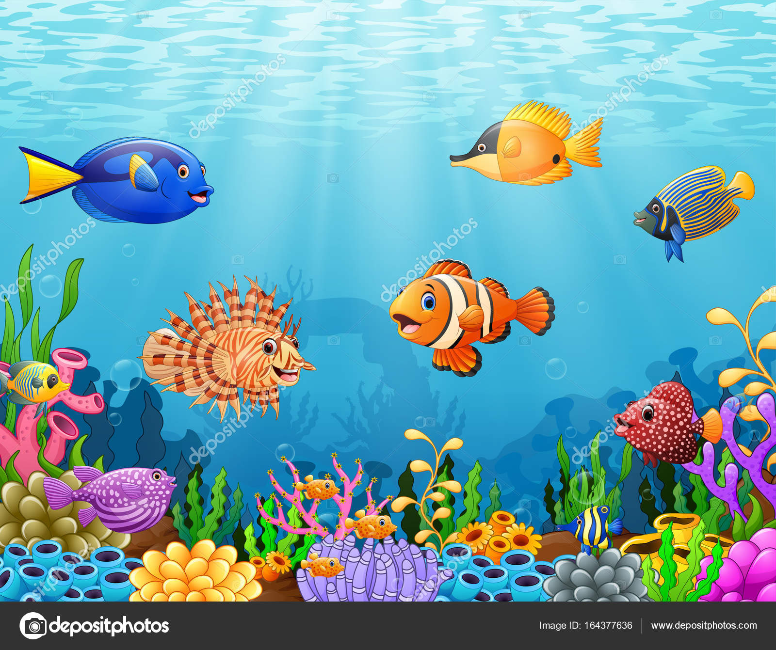 Under the ocean cartoon pictures to pin on pinterest for Fish under the sea