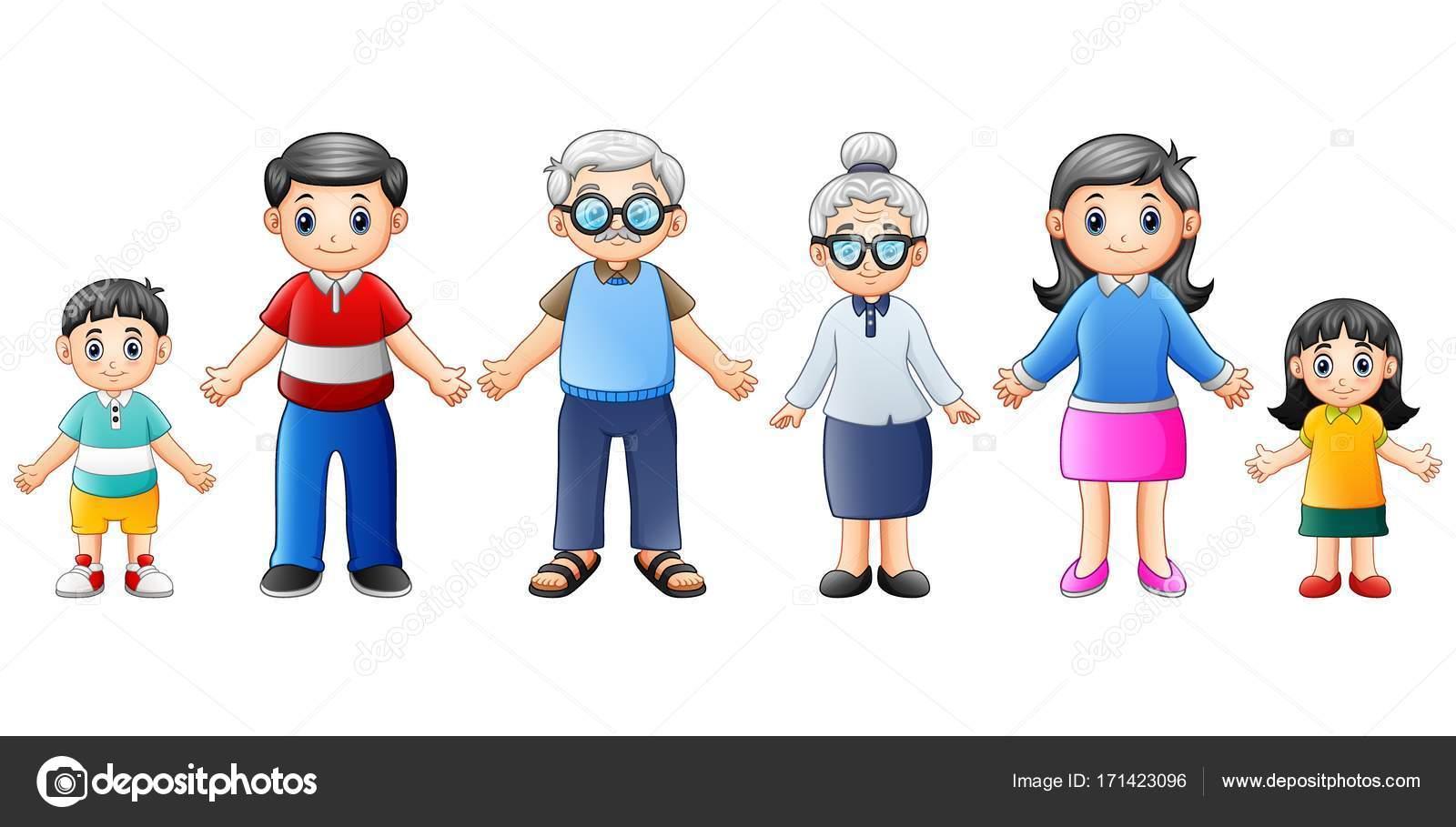 Dibujos Animados De Familias