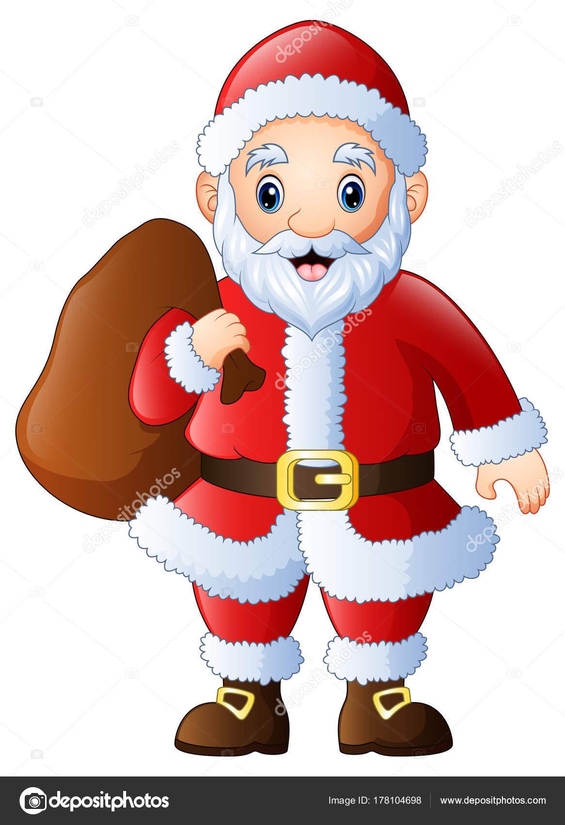 Imagenes De Papa Noel Animado.Saco De Papa Noel En Ingles Ilustracion Vectorial Dibujos
