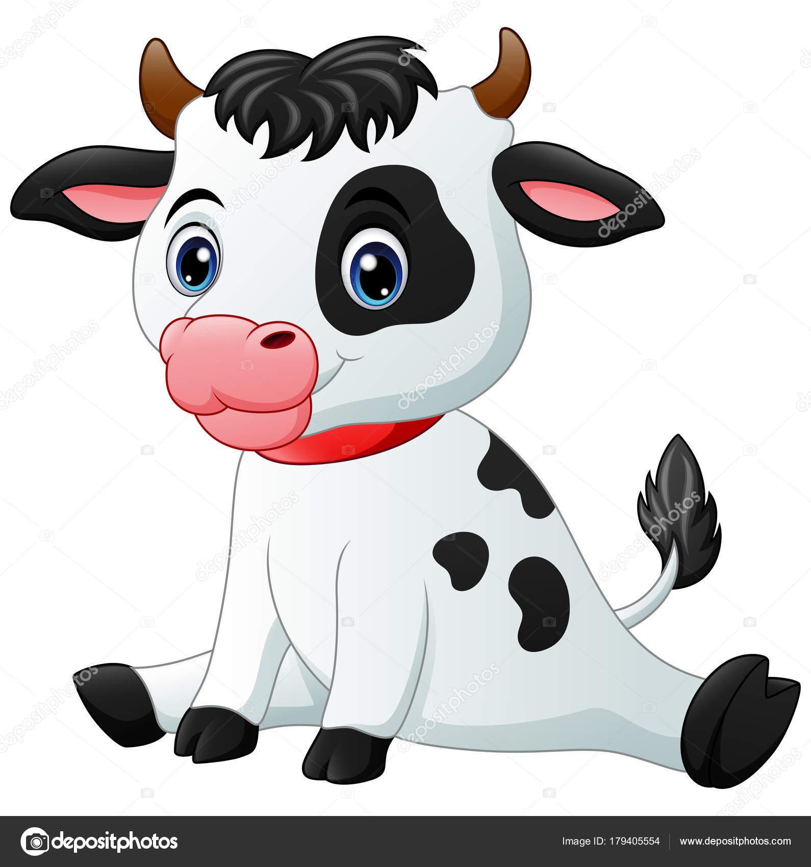 Vectores Vacas Ilustración Vector Sesión Dibujos Animados Lindo
