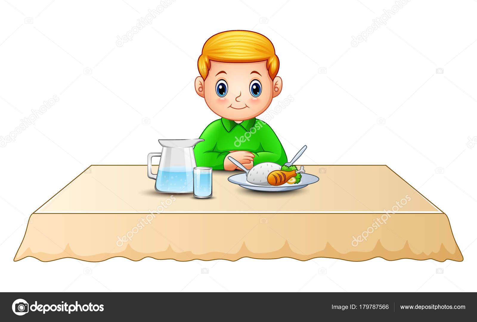 ilustra u00e7 u00e3o vetor bonito desenho menino comendo mesa jantar clip art little boy jesus clip art little boy fishing