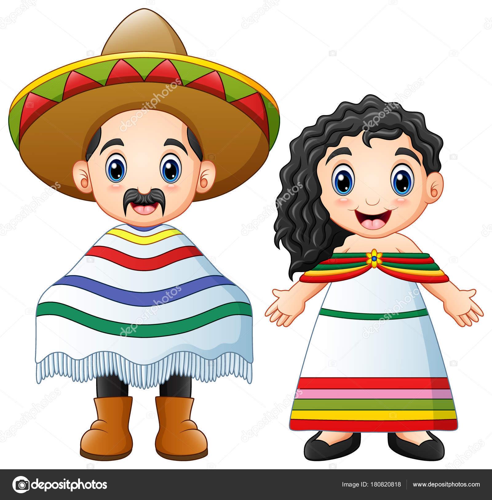 Ilustración Vector Pareja Los Dibujos Animados Mexicanos Vestidos Con  Trajes — Archivo Imágenes Vectoriales 156ee2e6ee6