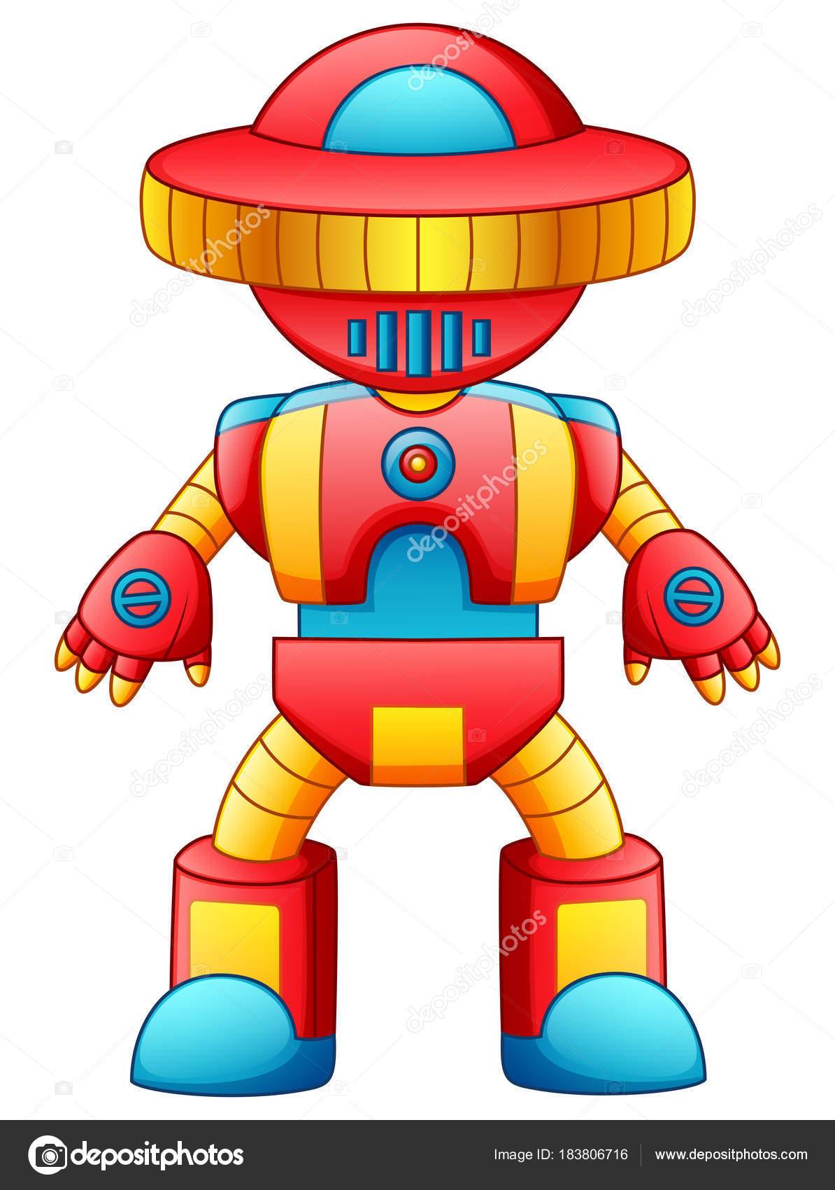 ilustraci n vectorial dibujos animados robot juguete colorido aislada sobre fondo archivo. Black Bedroom Furniture Sets. Home Design Ideas