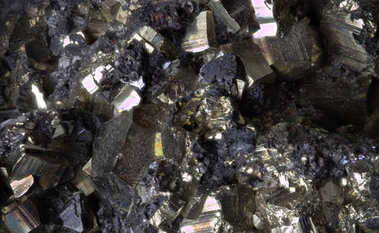 Highly detailed macro image of lead zinc ore piece standing for precious treasure raw industrial texture element