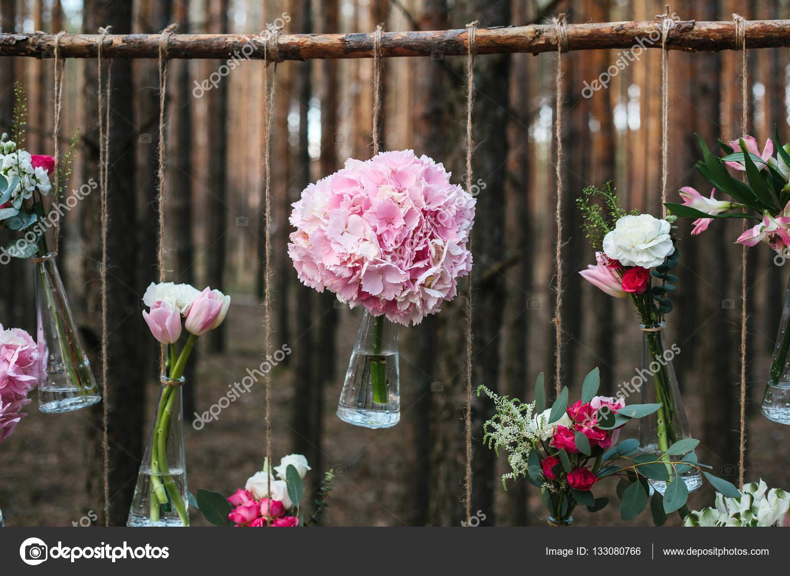 Hochzeit Blumen Deko Bogen In Den Wald Die Idee Einer Hochzeit