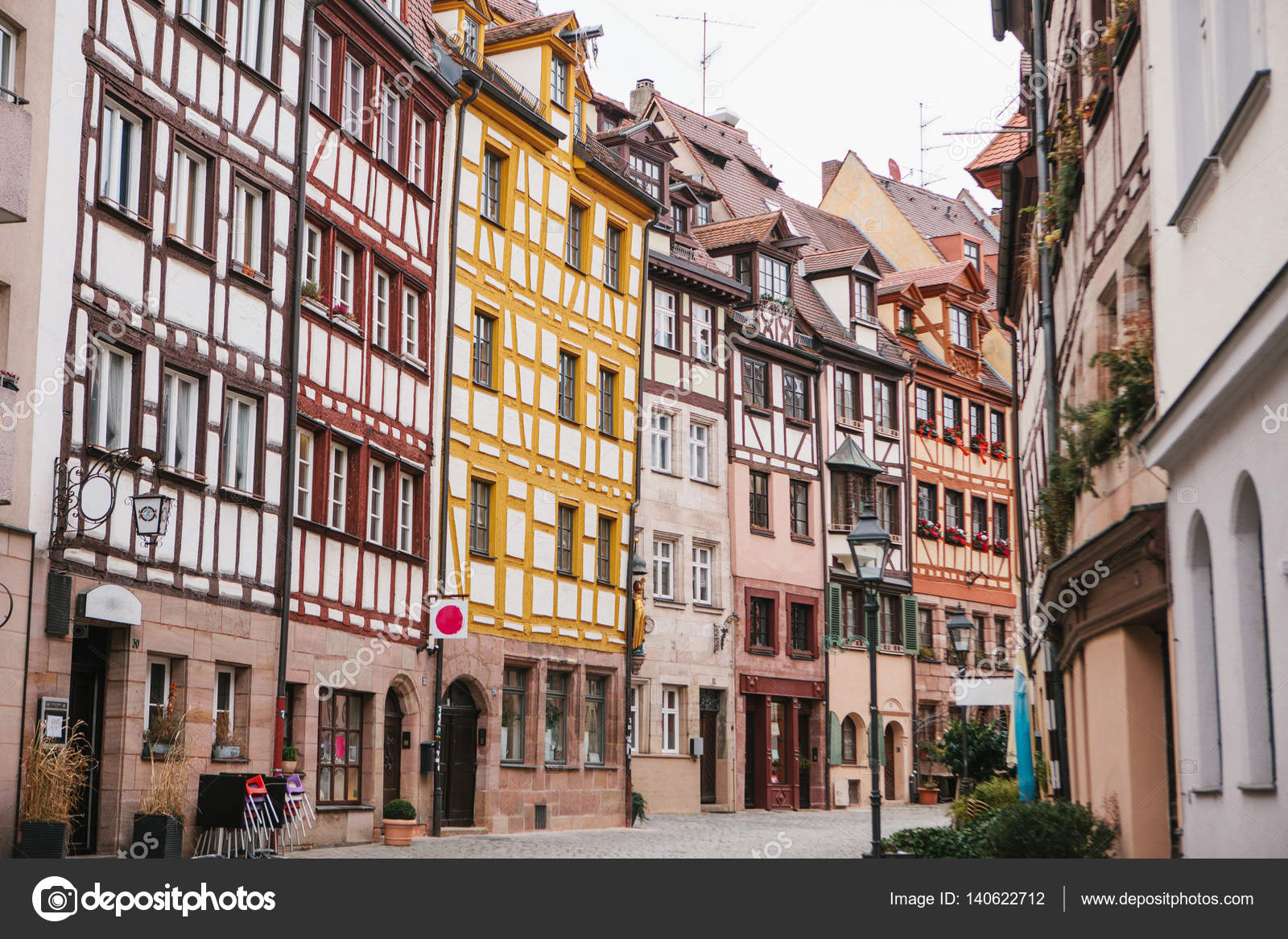 Traditional House In The German Style Nuremberg European Architecture Houses Bavaria Germany