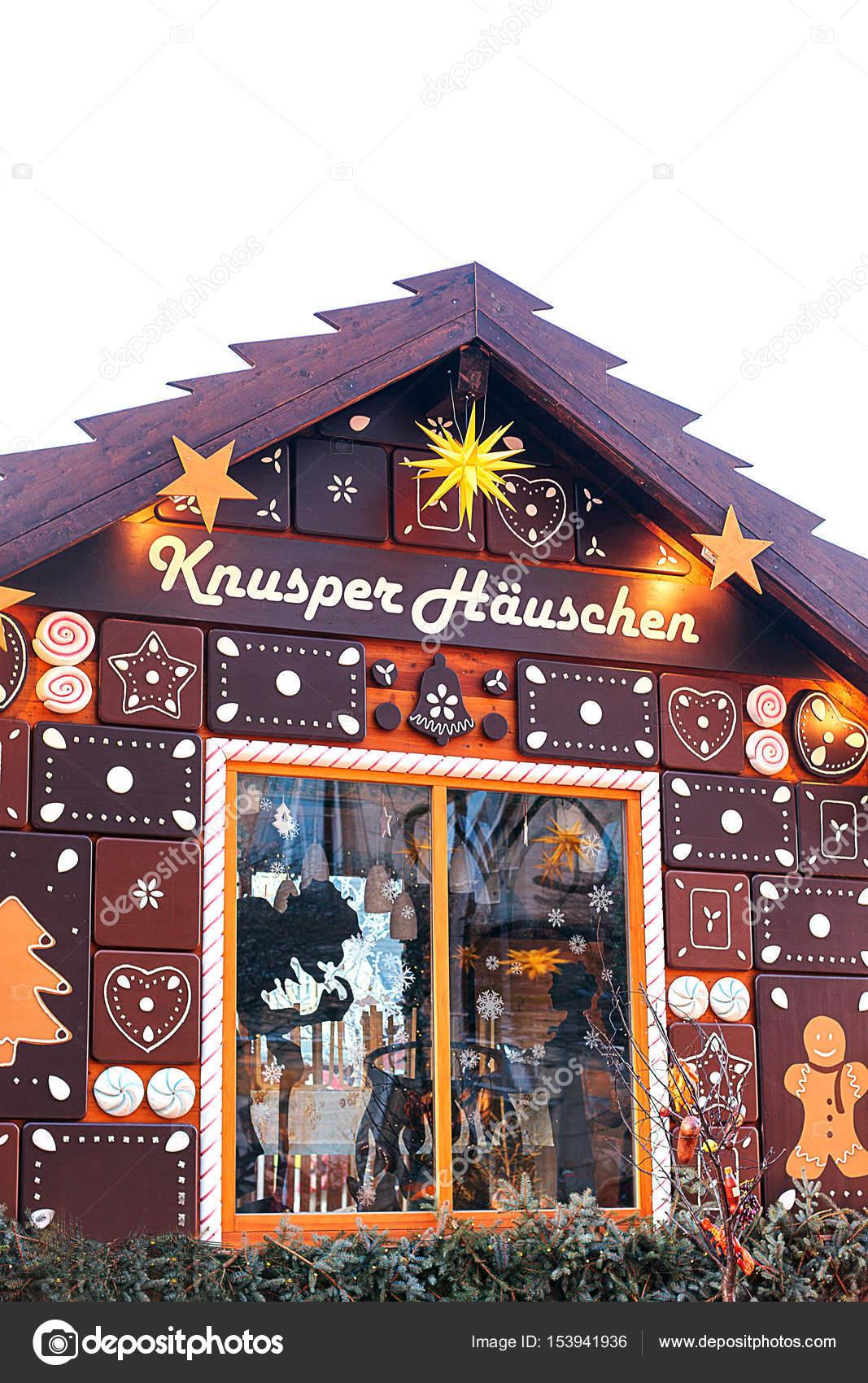 Peperkoek Huis In De Kerstmarkt In Dresden Duitsland Inscriptie In