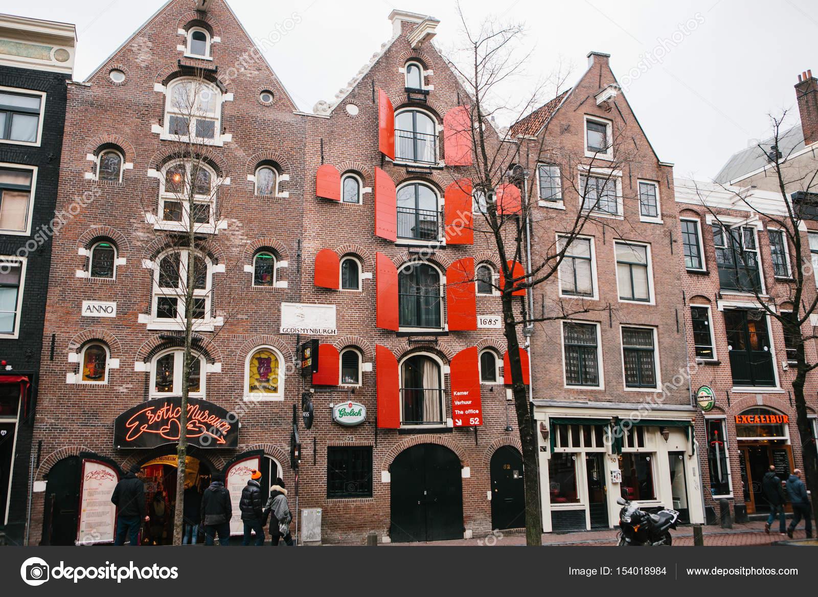 Licht Tour Amsterdam : Amsterdam niederlande januar häuser auf das rote licht