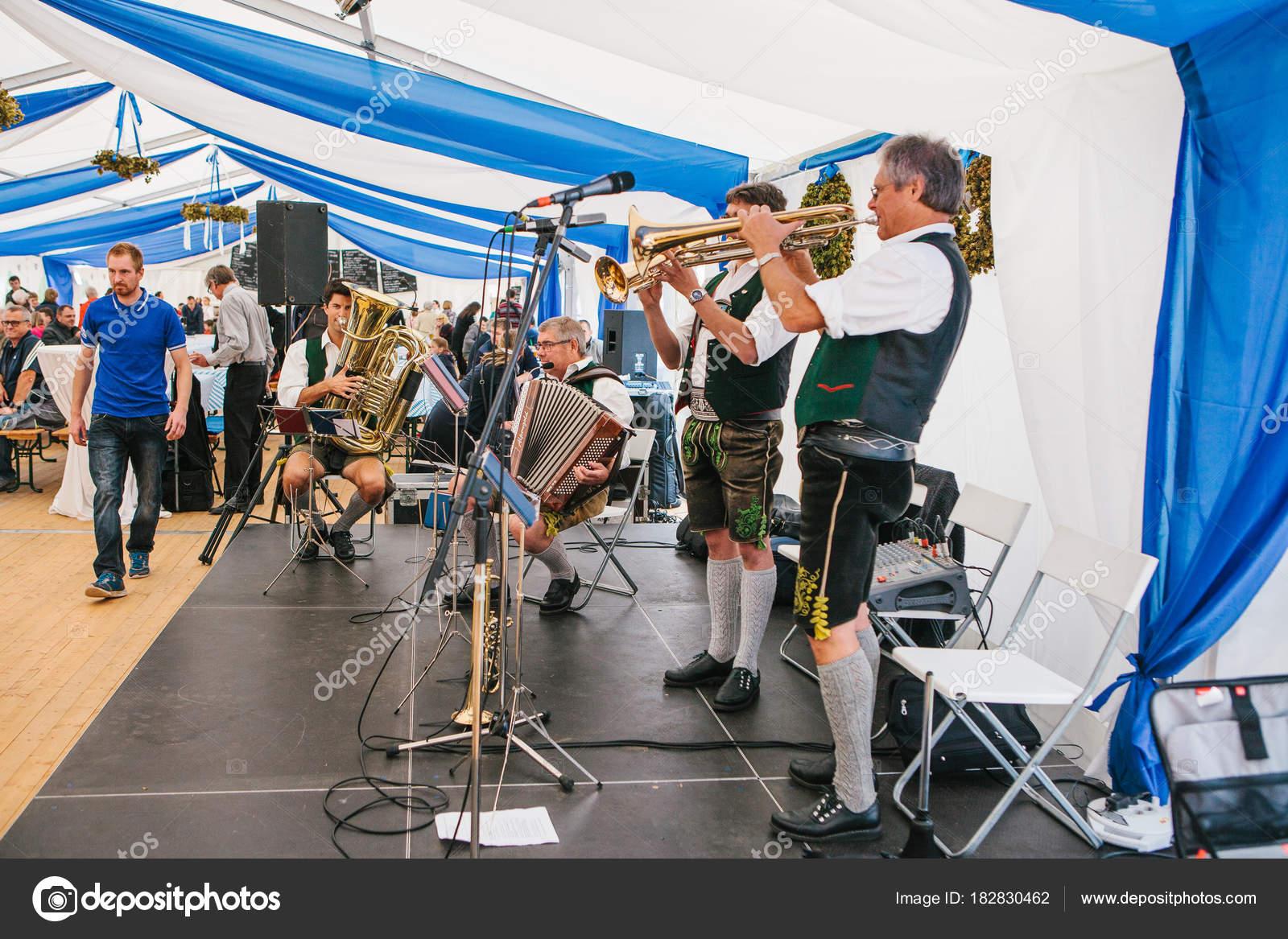 Prague, September 23, 2017: Celebrating the traditional German beer