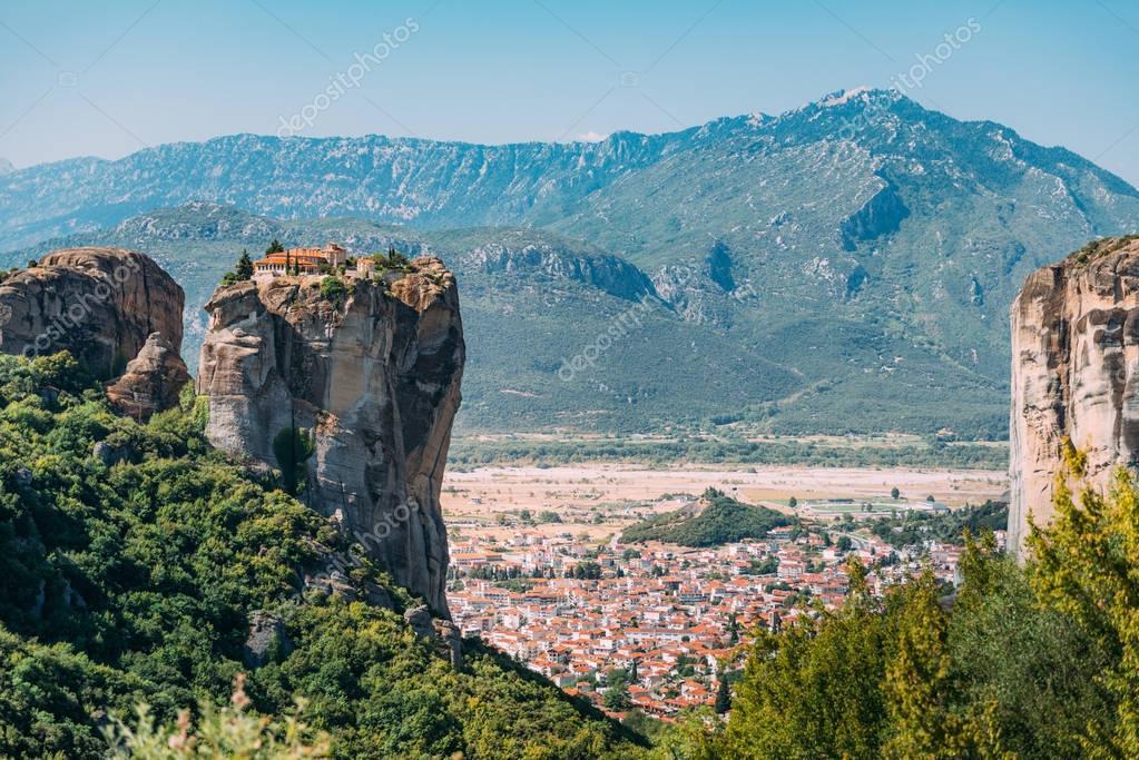 Meteora monasteries, Greece. The Monastery of the Holy Trinity