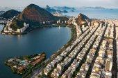 Fotografie letecký snímek Ipanema a Lagoa v Rio de Janeiro, Brazílie