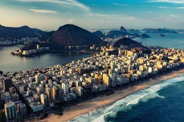 aerial view of Ipanema and Lagoa in Rio de Janeiro, Brazil