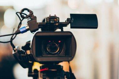 Television camera recording public event