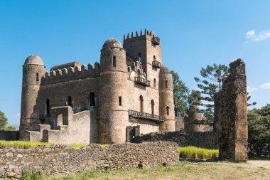 Ethiopia, Gondar, the Emperor's palace stock vector