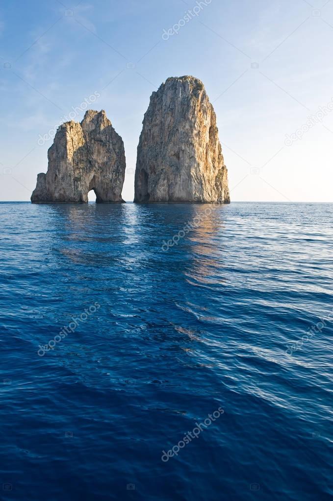 The Capri island