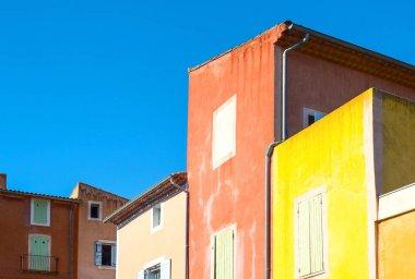 The Rousillion Vaucluse colored village