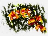 Bezproblémové pozadí. Tulipány. Stylizace - akvarel.