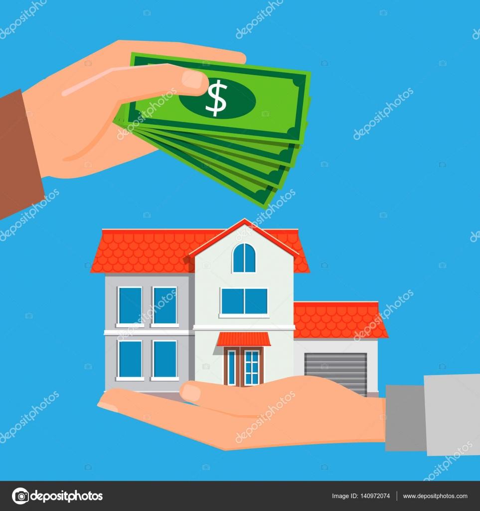 Comprar um imóvel novo. Agente imobiliário segurando uma casa em sua ...
