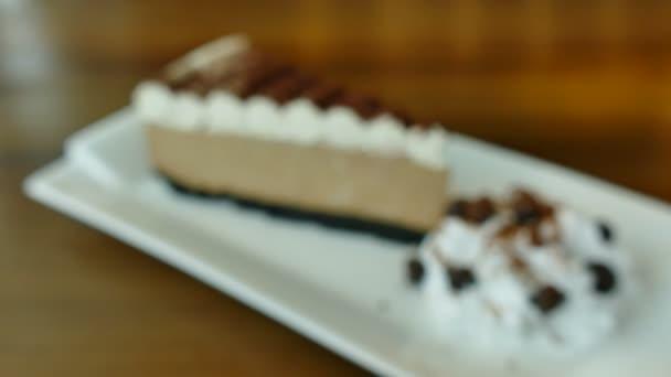 Coffee cake in coffee shop