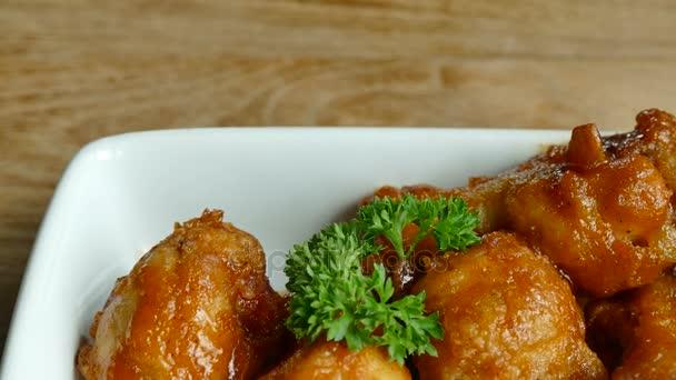 fried chicken drumsticks closeup