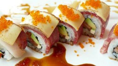 set sushi fresco video stock 142964021