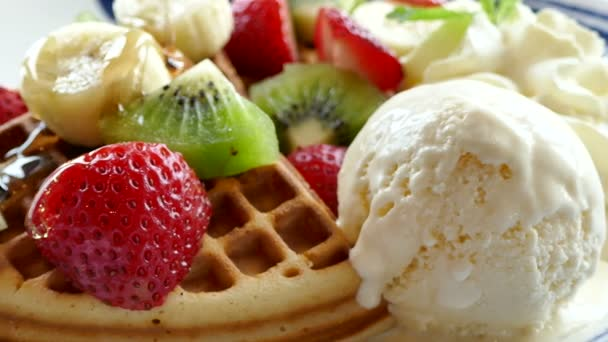 vafle se zmrzlinou