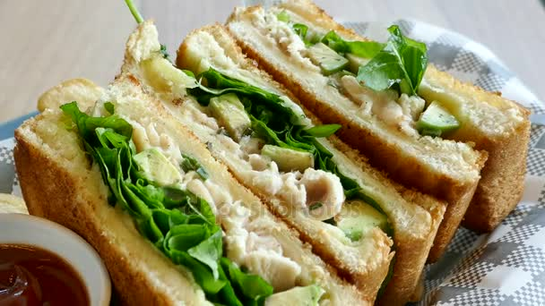 Sandwiches with Chicken and salad