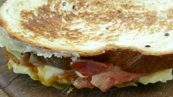 deliziosi panini con prosciutto e formaggio, video