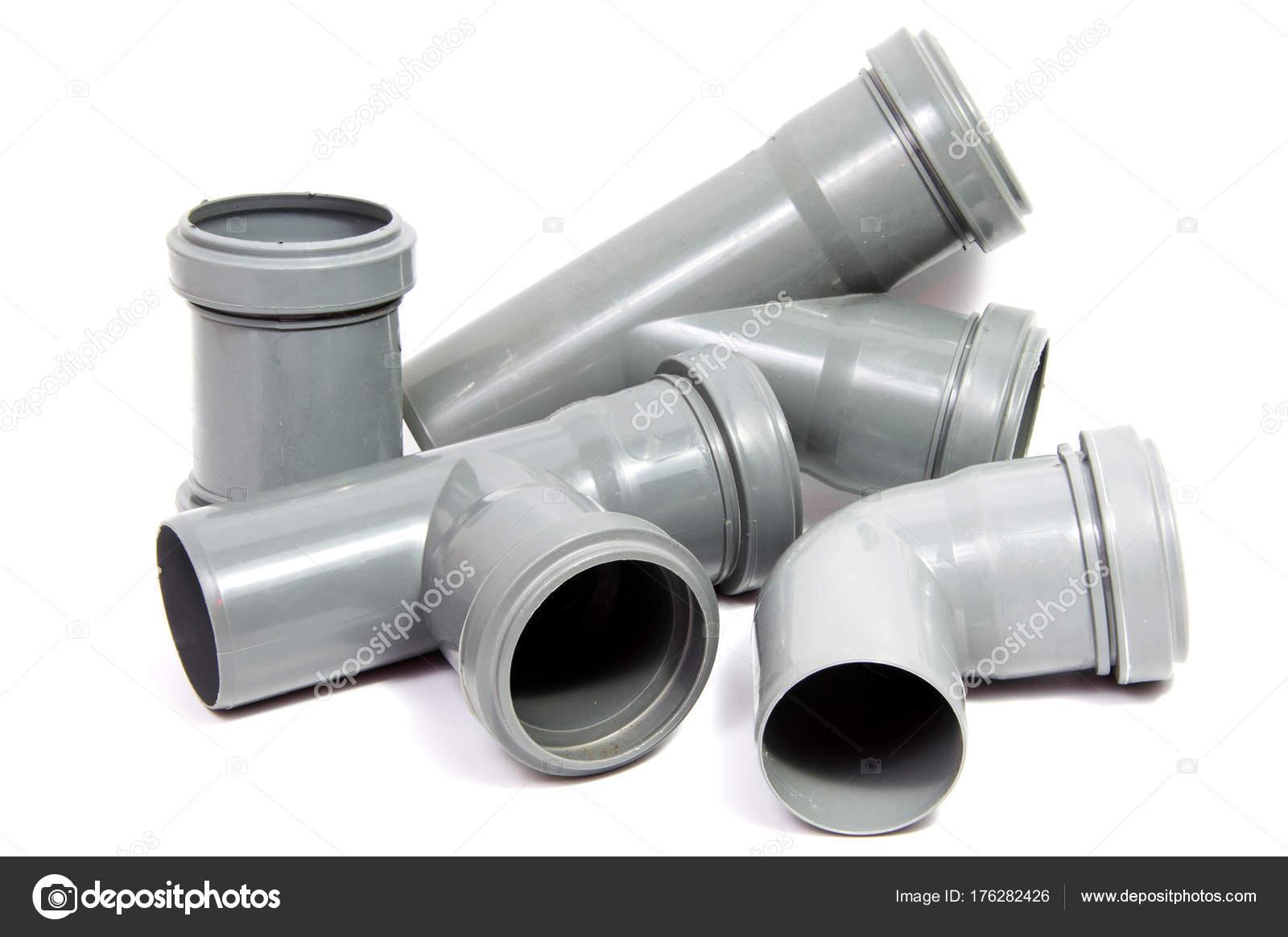 Häufig Kunststoff Sanitär Rohr Isoliert Auf Weißem Hintergrund MT26