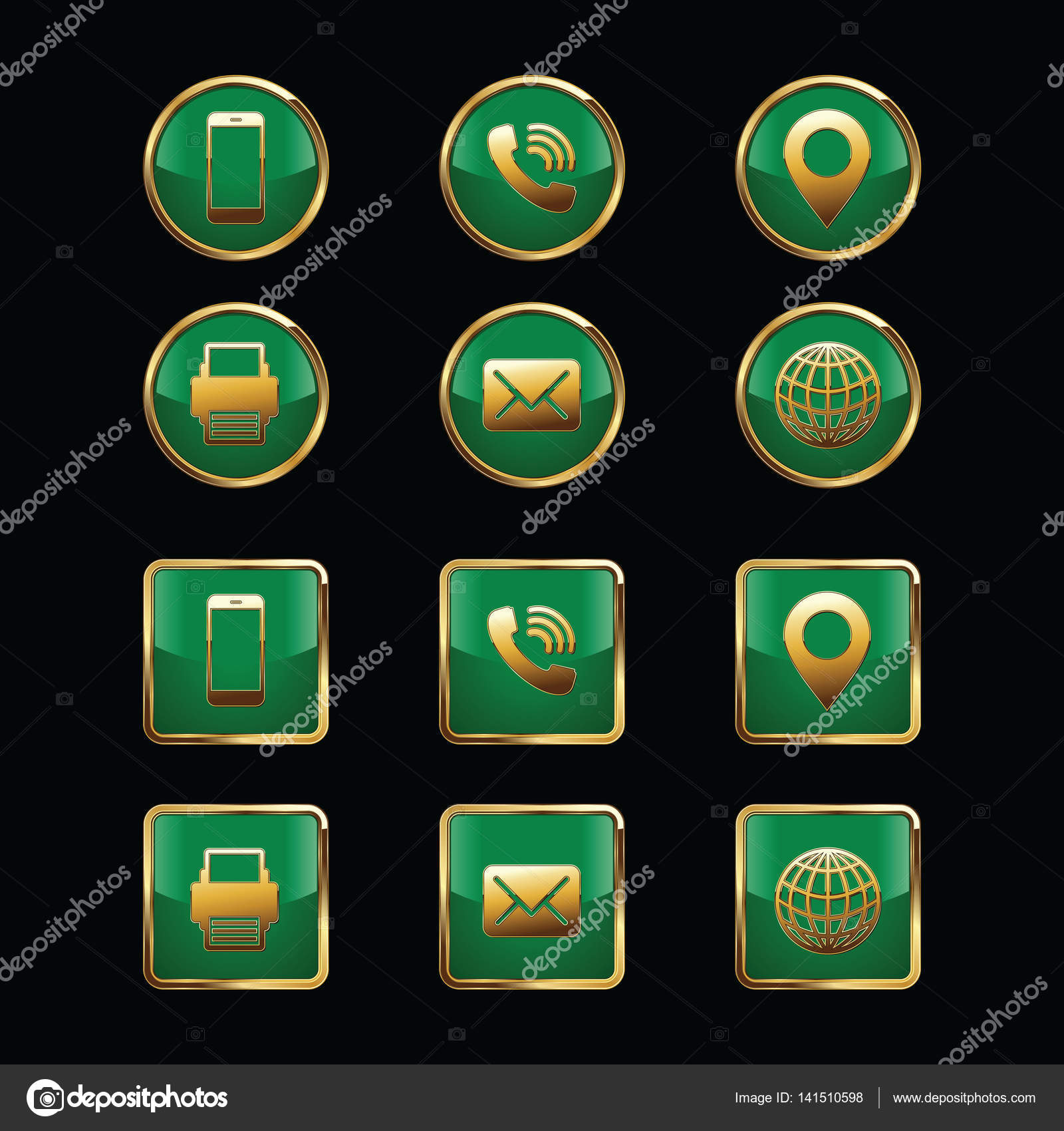 Business card icon set web icons luxury icons stock vector business card icon set web icons luxury icons vector by visarts magicingreecefo Gallery