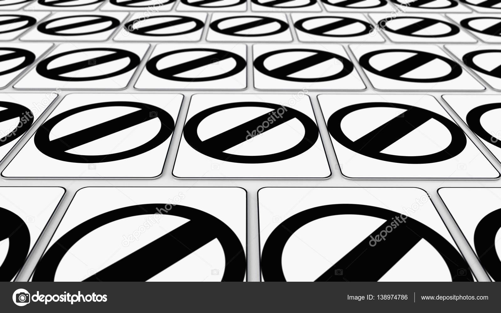 Dizi Boş Trafik Işaretleri Paketli Stok Foto Stockmorrison